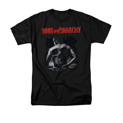 Sons Of Anarchy Back Skull Black T-Shirt