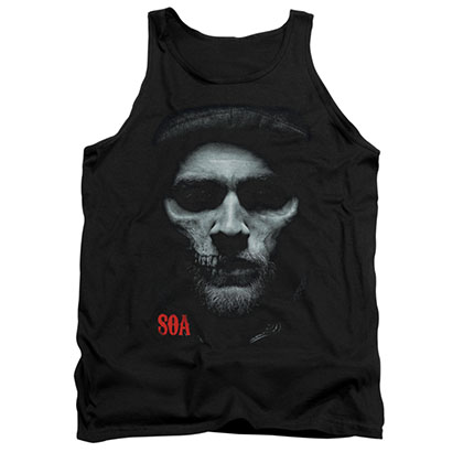 Sons Of Anarchy Skull Face Black Tank Top
