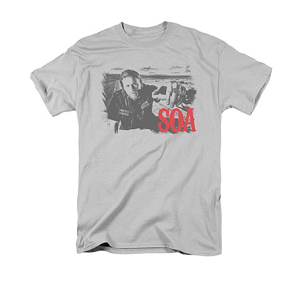 Sons Of Anarchy Jax Block Gray T-Shirt