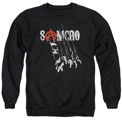 Sons Of Anarchy Rip Through Crewneck Sweatshirt