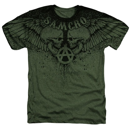 Sons Of Anarchy Winged Skulls Tshirt