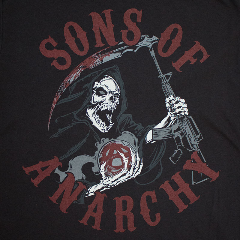 Sons Of Anarchy Men's Black Screaming Reaper Tee Shirt