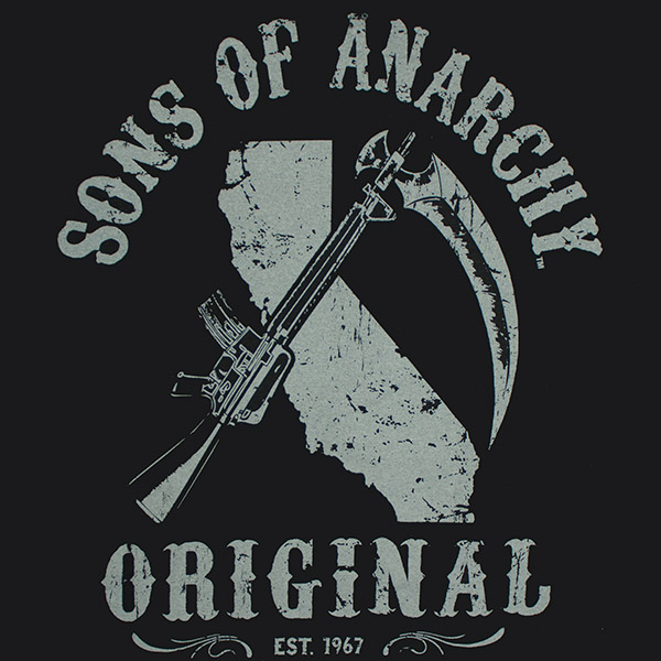 Sons Of Anarchy California Logo Shirt - Black