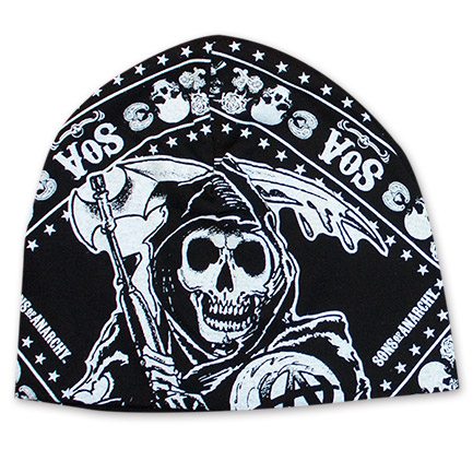 Sons Of Anarchy Black And White Reaper Beanie