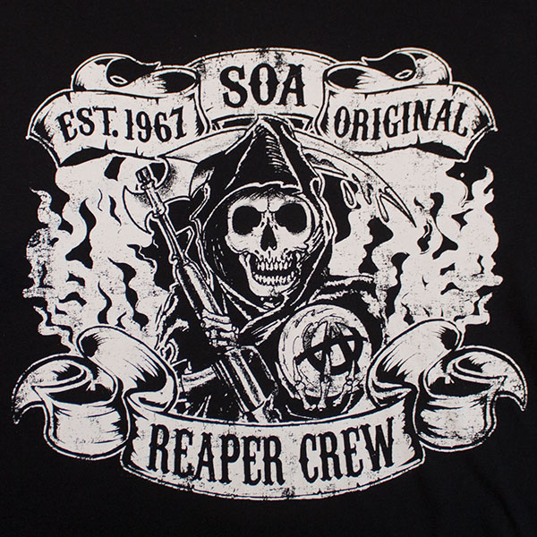 7ccdff9e077 Sons Of Anarchy SAMCRO Forever Reaper Crew Tank Top