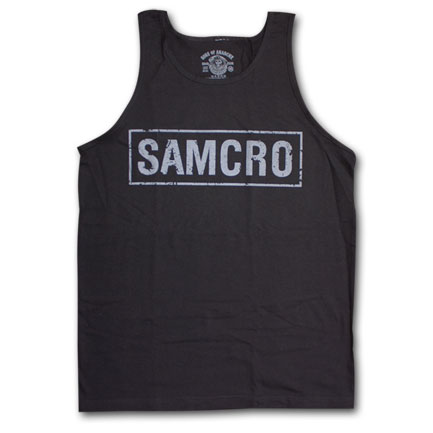 Sons Of Anarchy Boxed Logo Black Graphic Tank Top