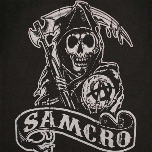 Sons Of Anarchy SAMCRO Banner Black Graphic T Shirt