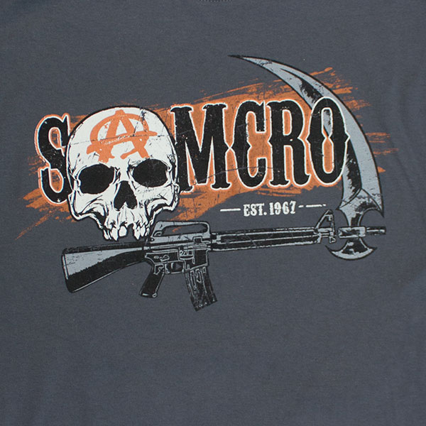 Sons Of Anarchy Grey SAMCRO Est. 1967 T-Shirt