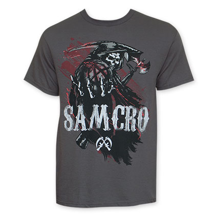 Sons Of Anarchy Grey Reaper Blood SAMCRO Tee Shirt