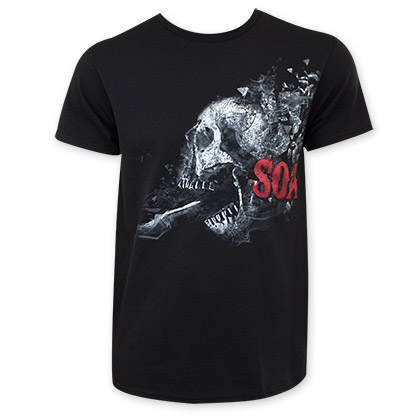 Sons Of Anarchy Shattered Skull Logo Tee Shirt