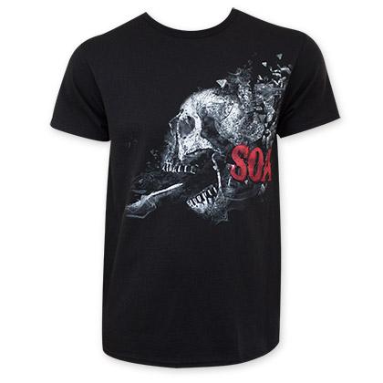 Sons Of Anarchy Men's Black Shattered Skull T-Shirt