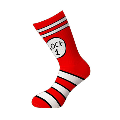 Dr. Seuss Thing 1 Thing 2 Socks
