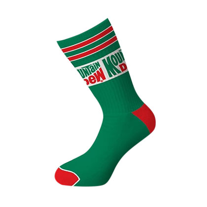 Mountain Dew Logo Crew Socks