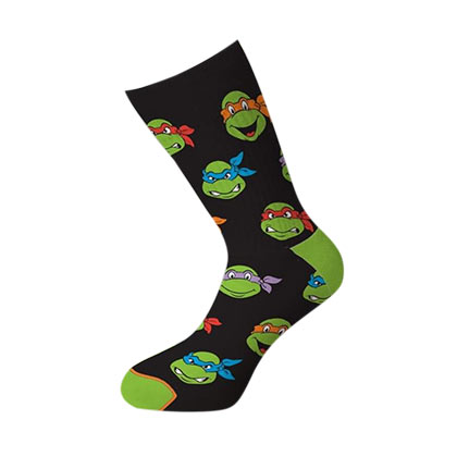 Teenage Mutant Ninja Turtles Faces Crew Socks
