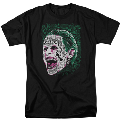 Suicide Squad Joker Portrait Men's Black Tshirt