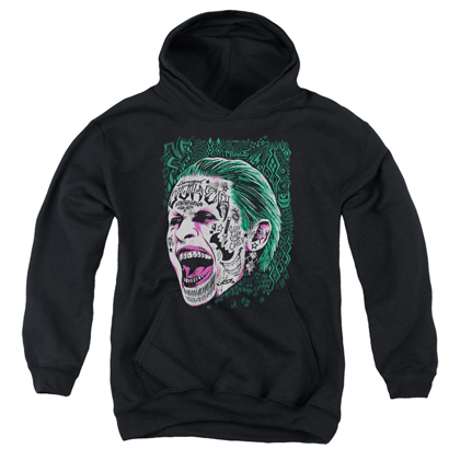 Suicide Squad Joker Tattoo Portrait Youth Hoodie