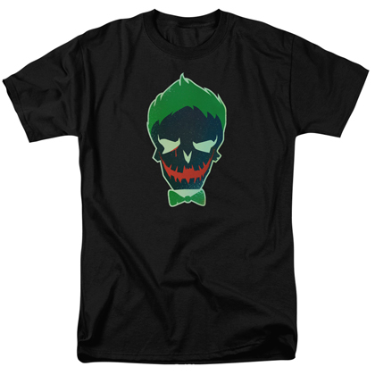Suicide Squad The Joker Skull Logo Men's Black Tshirt
