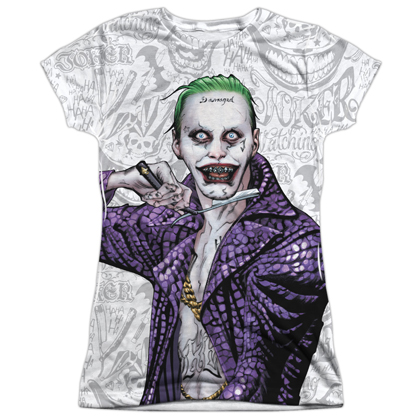Suicide Squad Joker Across the Throat Women's Sublimation Shirt