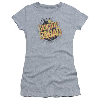 Suicide Squad Bomb Logo Women's Grey Shirt