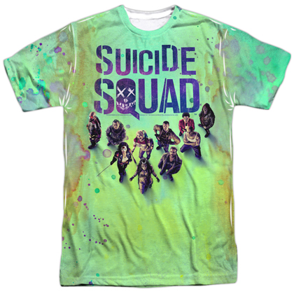 Suicide Squad Acid Wash Sublimated Men's Tshirt