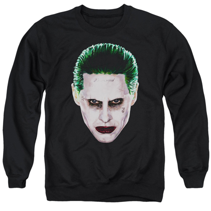 Suicide Squad Joker Face Crewneck Sweatshirt