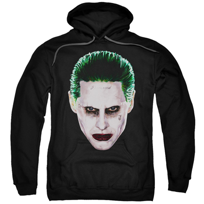 Suicide Squad The Joker Face Adult Hoodie