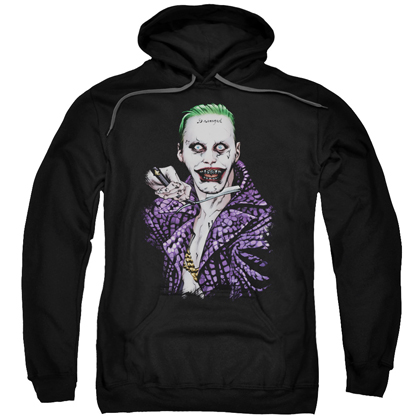 Suicide Squad The Joker Switchblade Adult Hoodie