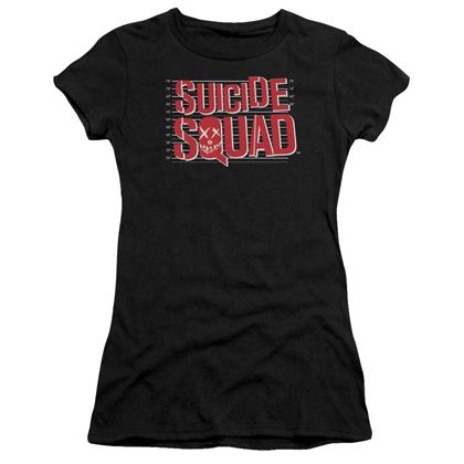 Suicide Squad Mugshot Lineup Women's Black Shirt