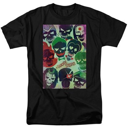 Suicide Squad Skulls Poster Men's Tshirt