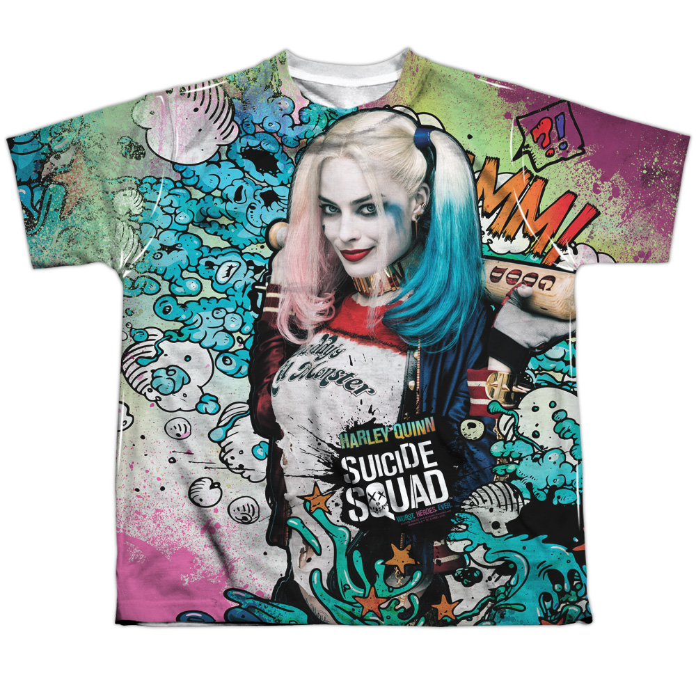 abbb7b76 Suicide Squad Harley Quinn Sublimated Youth Tshirt
