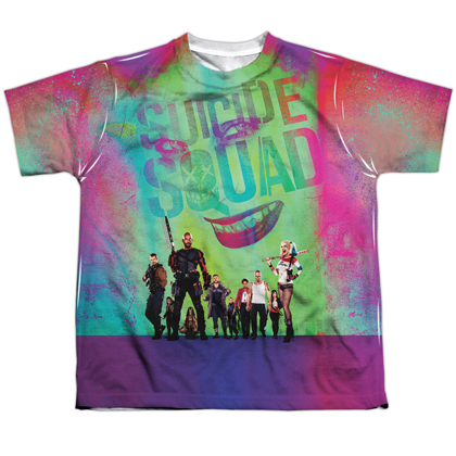 Suicide Squad Logo Sublimated Youth Tshirt
