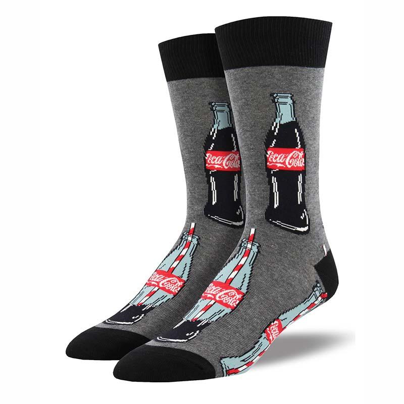 Coca Cola Grey Last Drop Men's Socks