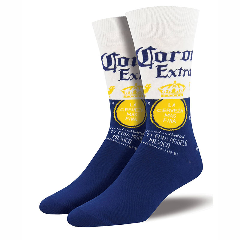 Corona Extra Blue & White Classic Logo Men's Socks