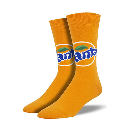Fanta Soda Men's Orange Socks