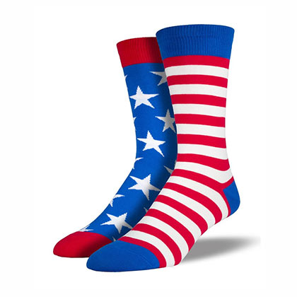 American Flag Classic Color Men's Socks