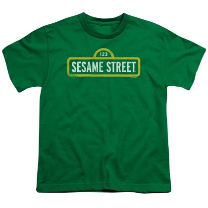Sesame Street Logo Green Youth Tshirt