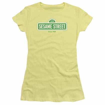 Sesame Street Since 1969 Yellow Juniors T-Shirt