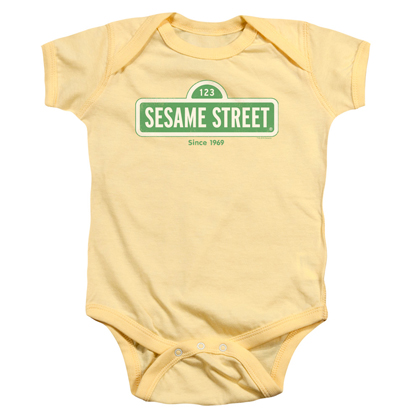 Sesame Street Logo Yellow Onesie