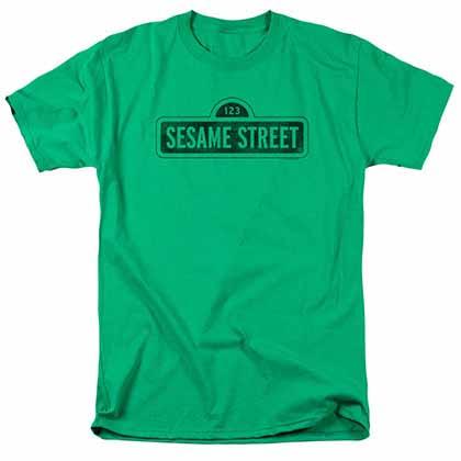Sesame Street One Color Dark Green T-Shirt