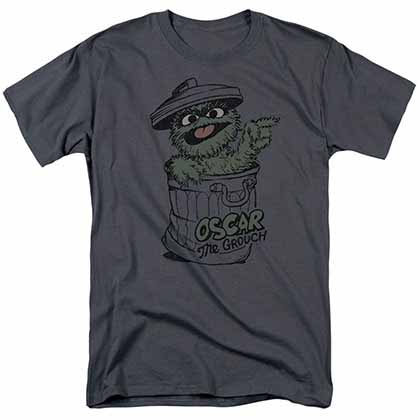 Sesame Street Early Grouch Gray T-Shirt