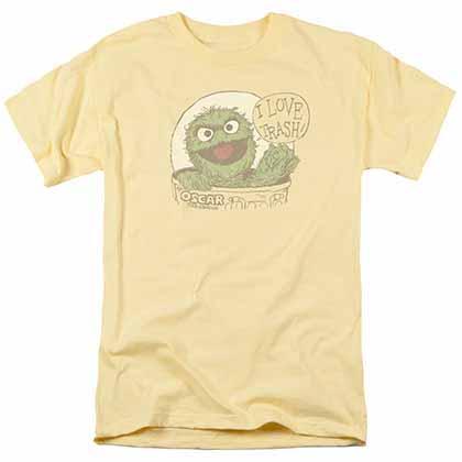 Sesame Street I Love Trash Yellow T-Shirt