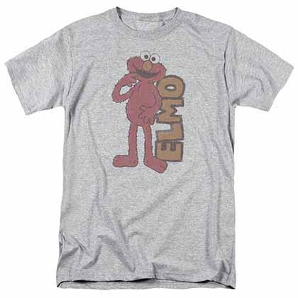 Sesame Street Vintage Elmo Gray T-Shirt