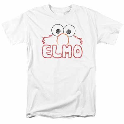 Sesame Street Elmo Letters White T-Shirt