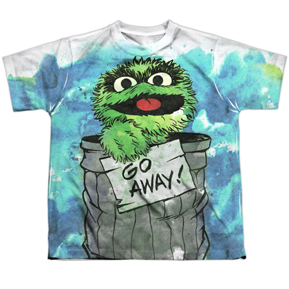 Sesame Street Oscar The Grouch Go Away Youth Tshirt