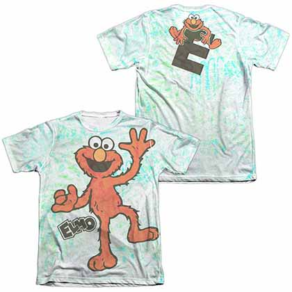Sesame Street Elmo Scribble  White 2-Sided Sublimation T-Shirt