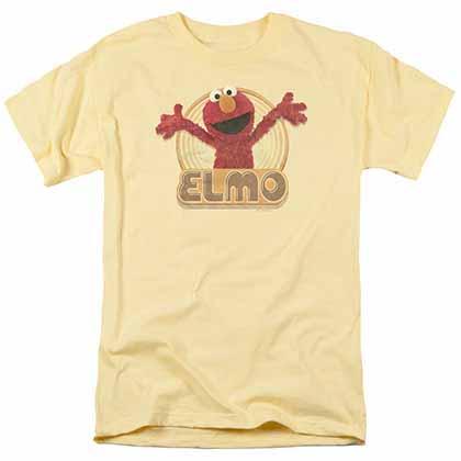 Sesame Street Elmo Iron On Yellow T-Shirt