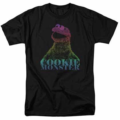 Sesame Street Cm Halftone Black T-Shirt