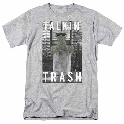 Sesame Street Talkin Trash Gray T-Shirt