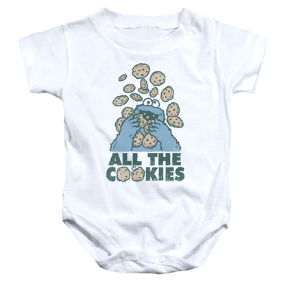 Sesame Street Cookie Monster All The Cookies Onesie