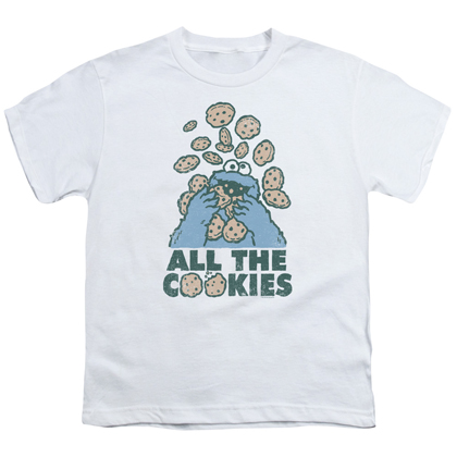 Sesame Street Cookie Monster All The Cookies Youth Tshirt